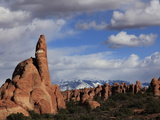 Sandstone Rock Formations in the Windows Region of Arches National Park, Near Moab, Utah Photographic Print by David Pickford