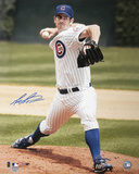 Mark Prior Chicago Cubs Pitching Autographed Photo (Hand Signed Collectable) Photo