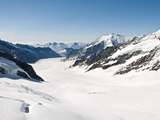 View of the Aletsch Glacier From Jungfraujoch, Jungfrau Region, Switzerland, Europe Photographic Print by Michael DeFreitas