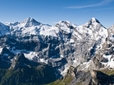 Jungfrau Massif From Schilthorn Peak, Jungfrau Region, Switzerland, Europe Photographic Print by Michael DeFreitas