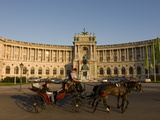 Horse Cart in Front of the Hofburg Palace on the Heldenplatz, Vienna, Austria, Europe Photographic Print by Michael Runkel