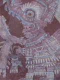 Fresco at Teotihuacan, Showing the Rain God Tlaloc, Palace of Tepantitla, Mexico Photographic Print by Richard Maschmeyer
