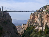 Sidi M'Cid Bridge Over a Huge Canyon, Constantine, Eastern Algeria, North Africa, Africa Fotografiskt tryck av Michael Runkel