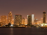 San Diego Skyline at Dusk From Coronado Island, California, United States of America, North America Photographic Print by Sergio Pitamitz