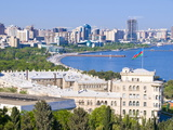 View Over Baku Bay, Baku, Azerbaijan, Central Asia, Asia Photographic Print by Michael Runkel