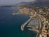 View From Helicopter of Menton, Alpes-Maritimes, Provence, France Photographic Print by Sergio Pitamitz