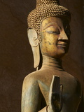Statue of the Buddha, Haw Pha Kaeo, Vientiane, Laos, Indochina, Southeast Asia, Asia Photographic Print