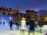 Ice Skating in Winter, Tower of London, London, England, United Kingdom, Europe Photographic Print by Alan Copson