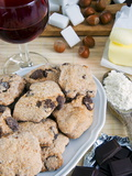 Tozzetti Cookies With Chocolate, Italian Gastronomy, Italy, Europe Photographic Print by Nico Tondini