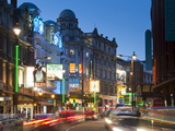 Theatreland in the Evening, Shaftesbury Avenue, London, England, United Kingdom, Europe Photographic Print by Alan Copson