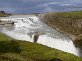 Gullfoss Waterfall, Iceland, Polar Regions Photographic Print