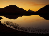 Sunset Silhouette at Lochan An Ais, Inverpolly, Sutherland, North West Scotland Photographic Print by Neale Clarke