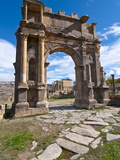 The Arch of Caracalla at the Roman Ruins of Djemila, Algeria, North Africa, Africa Photographic Print by Michael Runkel