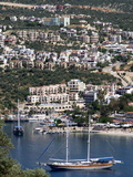 Gulet Anchored at Kalkan, a Popular Tourist Resort, Antalya Province, Anatolia, Turkey Fotografie-Druck