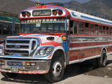 The Colorful Chicken Bus of Guatemala, Antigua, Guatemala, Central America Photographic Print by Richard Maschmeyer