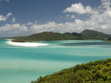 Whitehaven Beach and Hill Inlet, Whitsunday Island, Queensland, Australia, Pacific Fotografie-Druck von Tony Waltham