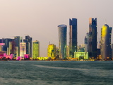 Modern Skyline, Doha, Qatar, Middle East Photographic Print by Alan Copson