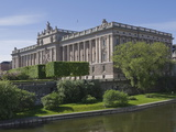 Museum and Parliament Building, Stockholm, Sweden, Scandinavia, Europe Photographic Print by James Emmerson