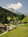 Maria Gern and Untersberg, Berchtesgadener Land, Bavaria, Germany, Europe Photographic Print by Jochen Schlenker