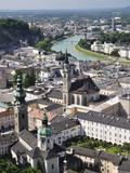 Old Town Seen From Fortress Hohensalzburg, Salzburg, Austria, Europe Photographic Print by Jochen Schlenker