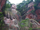 The Giant Buddha of Leshan, Sichuan, Tibet, China, Asia Photographic Print by Michael Runkel