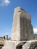 The Inscribed Pillar at the Lycian Site of Xanthos, Antalya Province, Anatolia, Turkey Photographic Print