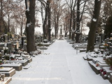 Snow-Covered Cemetery, Village of Treboradice, Prague, Czech Republic, Europe Photographic Print by Richard Nebesky