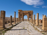 The Roman Ruins, Timgad, Algeria, North Africa, Africa Photographic Print by Michael Runkel