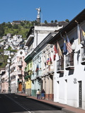 Historic Center With the Virgin of Quito Monument on Hill, Quito, Ecuador, South America Photographic Print by Michael DeFreitas