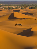 Sand Dunes, Merzouga, Morocco, North Africa, Africa Photographic Print by Michael Runkel