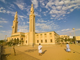 Central Mosque in Nouakchott, Mauritania, Africa Photographic Print by Michael Runkel