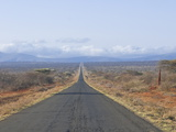 Straight Road Leading Into Kenya in Southern Ethiopia, Africa Photographic Print by Michael Runkel
