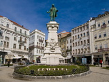 Central Square of Coimbra, Portugal, Europe Photographic Print by Michael Runkel