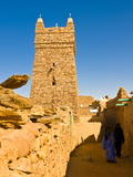 Ksar of the Medieval Trading Centre of Chinguetti, UNESCO World Heritage Site, Northern Mauritania Photographic Print by Michael Runkel