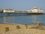 Eastbourne Pier, Beach and Groynes, Eastbourne, East Sussex, England, United Kingdom, Europe Photographic Print by Neale Clarke