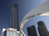 Eureka Tower, Melbourne Central Business District (Cbd), Melbourne, Victoria, Australia, Pacific Fotografisk tryk af Jochen Schlenker