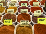 Spices on Stall in the Market in Kalkan, Anatolia, Turkey, Asia Minor, Eurasia Photographic Print
