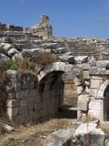 The Amphitheatre at the Lycian Site of Xanthos, Antalya Province, Anatolia, Turkey Photographic Print