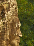 Close-Up of Sculpture, Bayon Temple, Dating From the 13Th Century, Angkor, Siem Reap, Cambodia Photographic Print