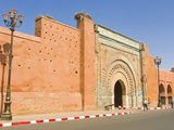 Bab Agnou City Gate, Marrakech, Morocco, North Africa, Africa Photographic Print by Michael Runkel