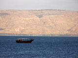 Boat on the Sea of Galilee, Israel, Middle East Photographic Print