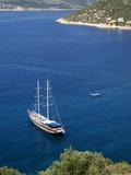 Gullet Anchored at Kalkan, a Popular Tourist Resort, Antalya Province, Anatolia, Turkey Photographic Print