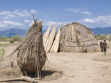 Traditional House of the Arbore Tribe, Omo Valley, Ethiopia, Africa Photographic Print by Michael Runkel
