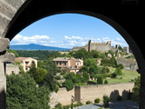 View of Tuscania and Ruins of Rivellino Castle, Tuscania, Viterbo Province, Latium, Italy, Europe Photographic Print by Nico Tondini