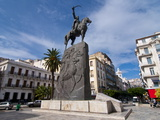 The Statue of Abdel Kader at Place Abdel Kader, Algiers, Algeria, North Africa, Africa Photographic Print by Michael Runkel