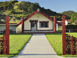 Marae, Torere, Bay of Plenty, North Island, New Zealand, Pacific Photographic Print by Jochen Schlenker