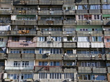 Huge Apartment Building in the Old Soviet Style, Yerevan, Armenia, Caucasus, Central Asia, Asia Photographic Print by Michael Runkel
