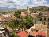 View Over Town's Rooftops and the Tower of Iglesia Y Convento De San Francisco, Trinidad, Cuba Photographic Print by Lee Frost