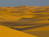 Sand Dunes at Sunset, Near Chinguetti, Mauritania, Africa Photographic Print by Michael Runkel