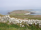 Stone Walls, Samson, Isles of Scilly, United Kingdom, Europe Photographic Print